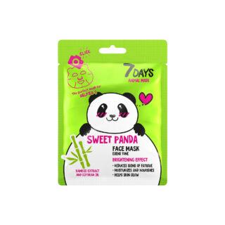 """Näohooldus Kangasmask näole """"7days Sweet Panda"""", bambuse ektraktiga"""