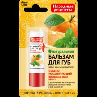 """Huulepulgad, palsamid, vaseliin Huulepalsam """"Narodnyje Recepty"""", piparmündi-apelsiini fresh"""