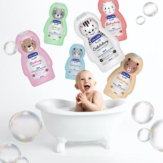 "Dušigeel lastele Šampoon ja dušigeel lastele 3in1 ""OnLine-Fruit Jellies"""