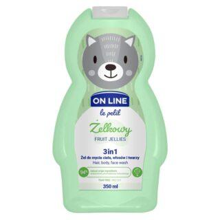 "Laste kosmeetika Šampoon ja dušigeel lastele 3in1 ""OnLine-Fruit Jellies"""
