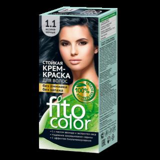 """Juuksehooldus Kreemjas püsivärv juustele """"Fito Color"""", 1.1 sinine-must"""
