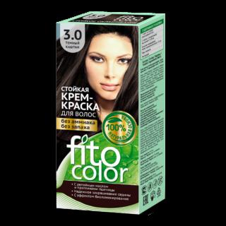 """Juuksehooldus Kreemjas püsivärv juustele """"Fito Color"""", 3.0 tume kastan"""