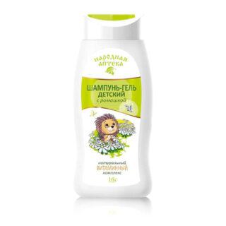 """Laste kosmeetika Laste šampoon ja dušigeel """"Narodnaja apteka"""", kummeliga"""