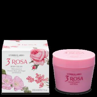 Kehahooldus Roosiekstraktiga kehakreem L'Erbolario 3 Rosa 200 ml