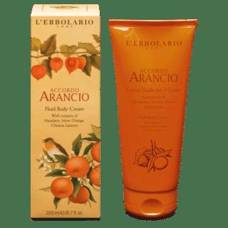 Kehahooldus Kreem-fluid kehale L'Erbolario Accordo Arancio 200 ml
