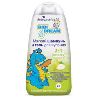 """Dušigeel lastele Lastešampoon ja dušigeel """"Bibi Dream"""", pirni ekstaktiga 3+"""