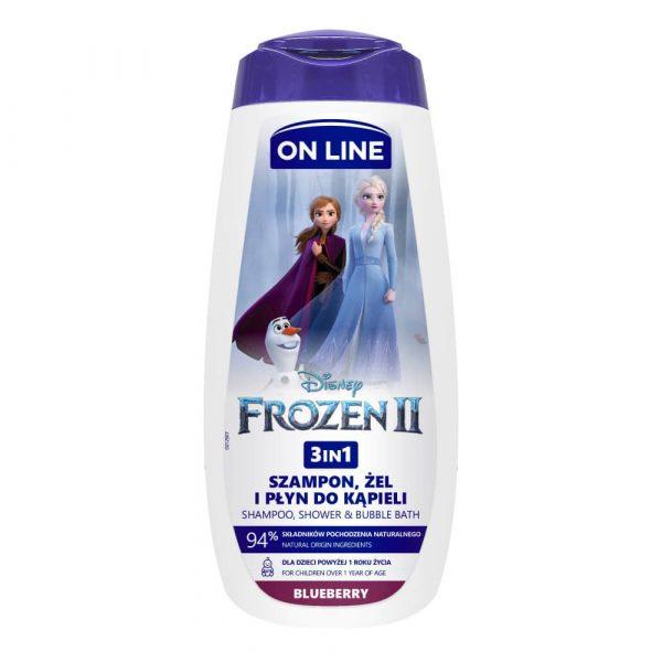 """Dušigeel lastele Šampoon, dušigeel ja vannivaht 3in1 """"Frozen"""""""