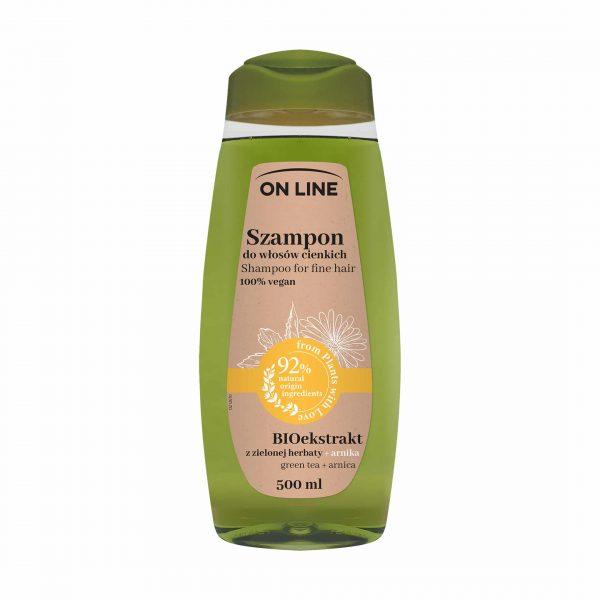 """Shampoon """"On Line 100% vegan"""" arnika ja roheline tee 500ml"""