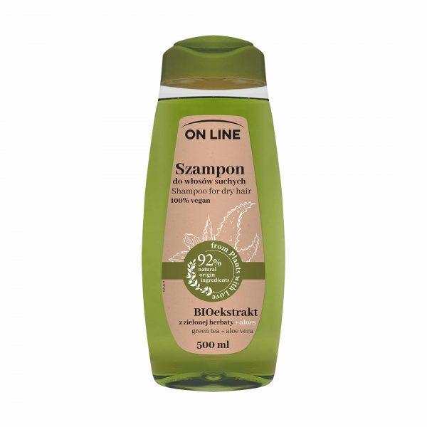 """Shampoon""""On Line 100% vegan"""" aaloe+roheline tee 500ml"""