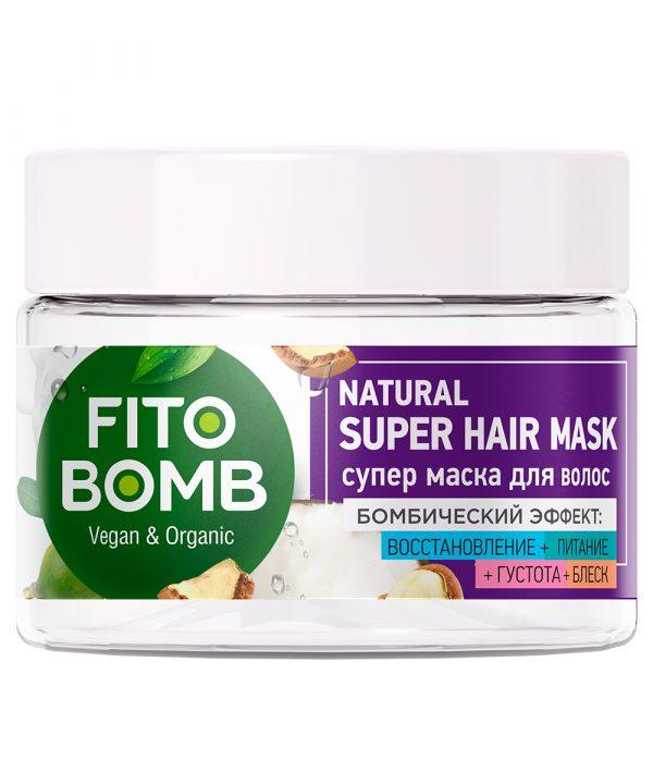 FitoBomb Super juuksemask argaania-, avokaado-, jojobaõliga