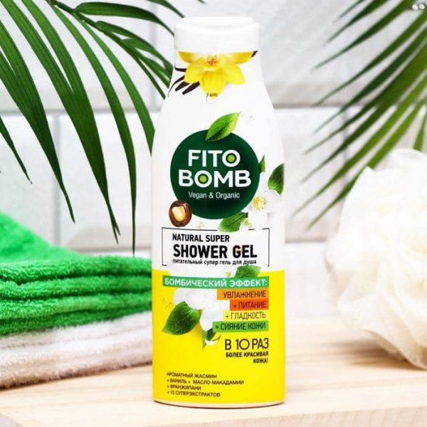FitoBomb Super toitev dušigeel jasmiini ja vanilje aroomiga